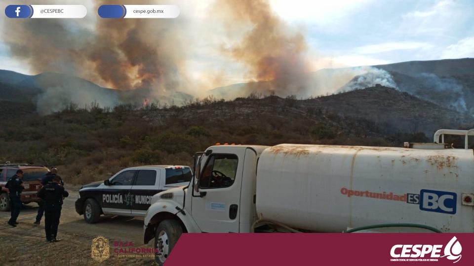 Incendio forestal cercano al Cañón del Gallo