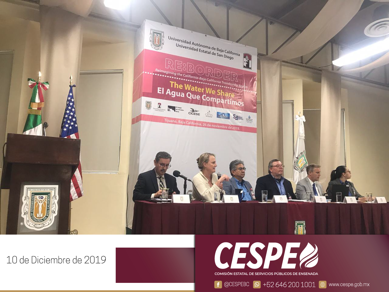 Equipo de la Unidad de Cultura del Agua 💧 de la CESPE asistió a la conferencia RE:BORDER