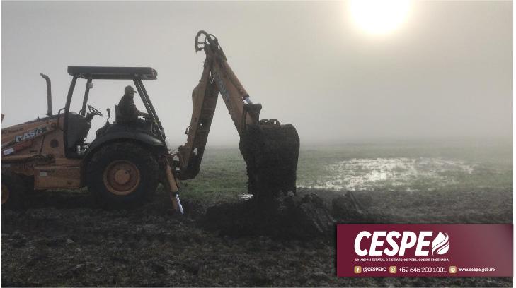 Controla CESPE fuga intensa en Acueducto La Misión.