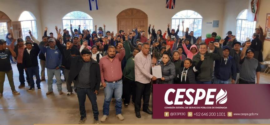 Lleva CESPE proyecto técnico y presupuesto de la ampliación de agua potable para la Colonia Oaxaca.