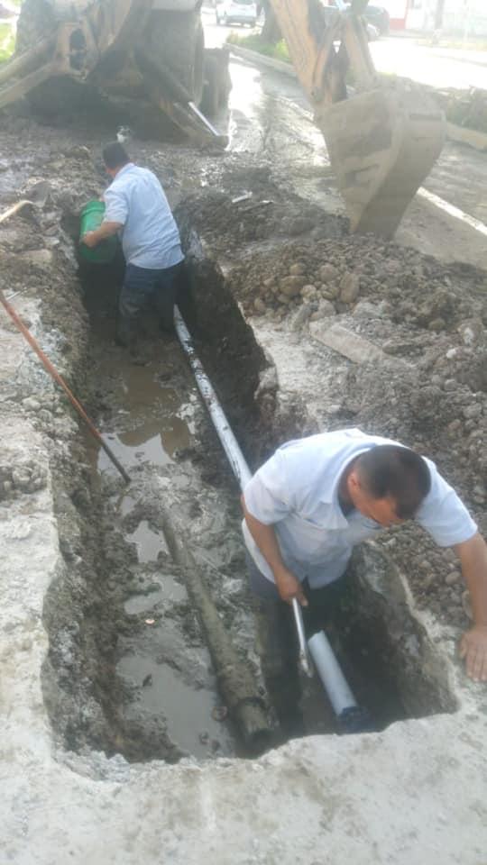 Atiende CESPE reparación mayor en el Acueducto Morelos en tiempo récord, para evitar dejar sin agua a las familias.