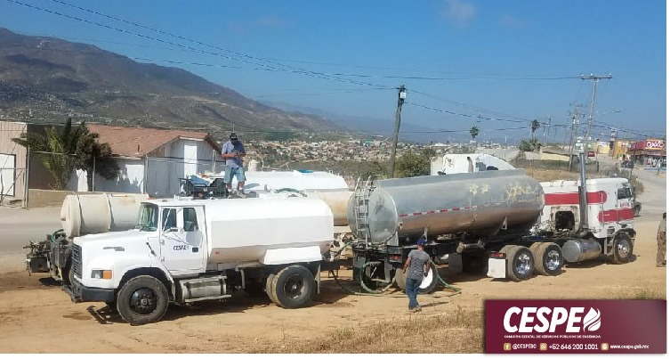 Concluye la CESPE primera etapa del plan emergente de abastecimiento en Pipas por falla en La Misión.