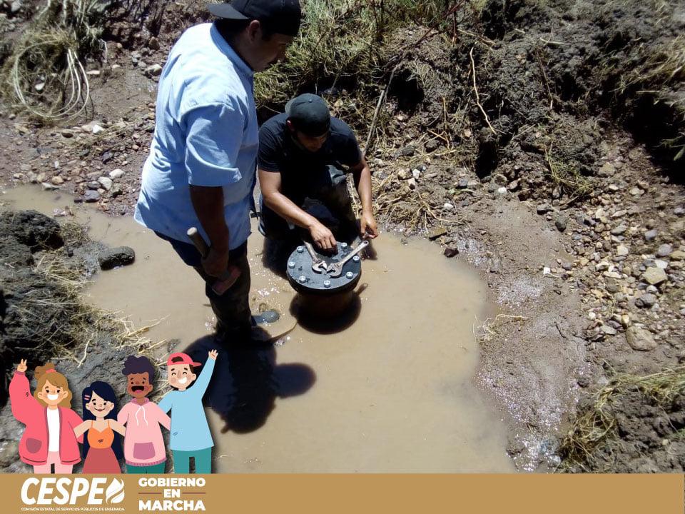 Concluyen exitosamente los trabajos de reparación de fuga en Rancho Cerritos.