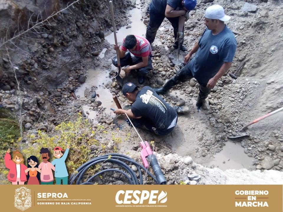 Controla y repara la CESPE fuga intensa en el Acueducto Morelos, reinicia Tijuana el bombeo del Flujo Inverso a Ensenada y se activa un tercer equipo en la PB 87 para normalizar el suministro