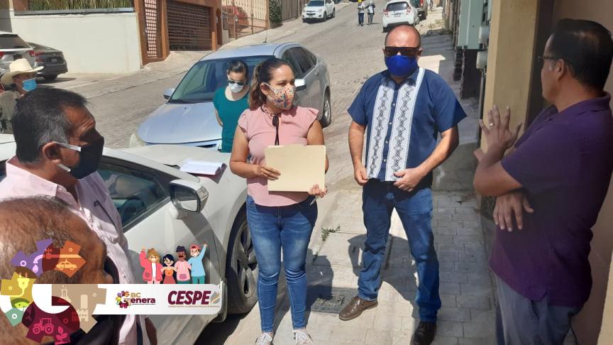 Atiende Director General de la CESPE Ing. Marcelino Márquez Wong, problemática de baja presión  de la Privada San Antonio de la Colonia Benito Juárez.