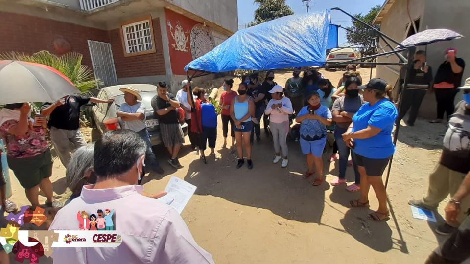 Avanza la CESPE a la velocidad de la necesidad. El Director General Ing. Marcelino Márquez Wong se compromete a llevar el agua a la Colonia Ex Ejido Ruiz Cortinez.