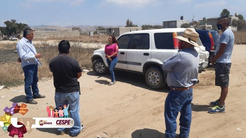 Se compromete el Director General de la CESPE Ing. Marcelino Márquez Wong a llevar el vital líquido para el bienestar de las familias de El Salitral.