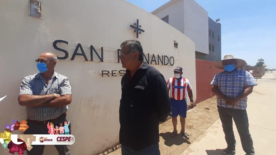 Atiende Director General de la CESPE Ing. Marcelino Márquez Wong problemática de aguas residuales del Fraccionamiento San Fernando de la Delegación de San Quintín.
