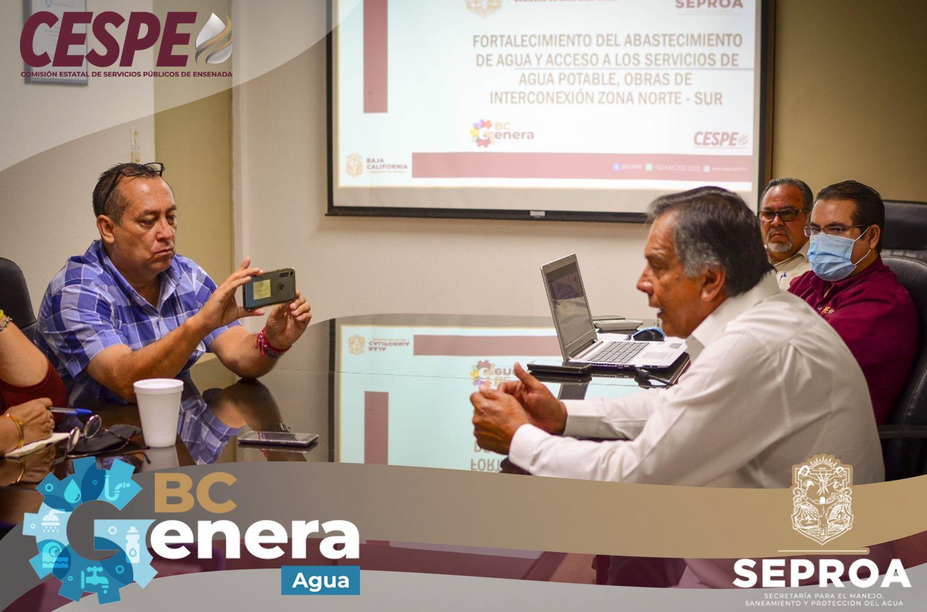 Informa la #CESPE a medios de comunicación, los avances que se tienen para el mejoramiento del servicio.