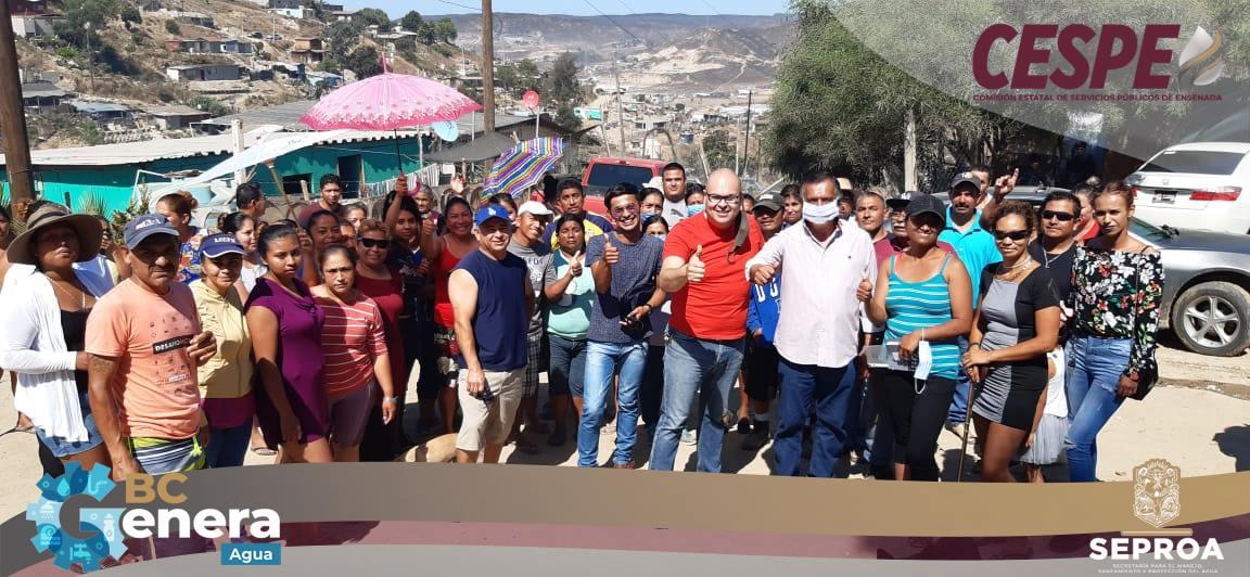 Se compromete Director General de la CESPE Ing. Marcelino Márquez Wong, a instalar tomas individuales en la Colonia Villa de Reyes en El #Sauzal de Rodriguez.
