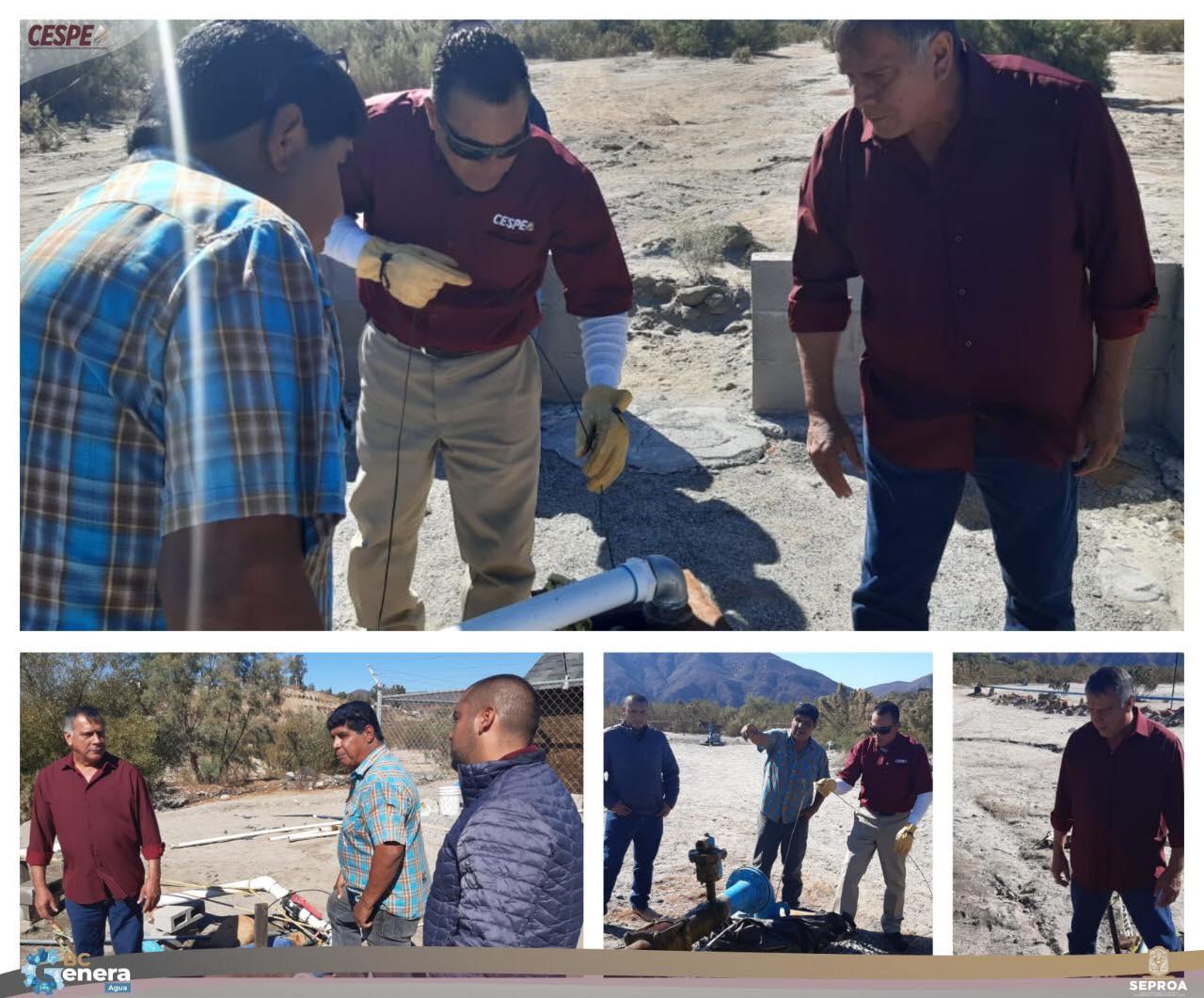Revisión de la operación del sistema de abastecimiento de agua para la delegación de #SanVicente