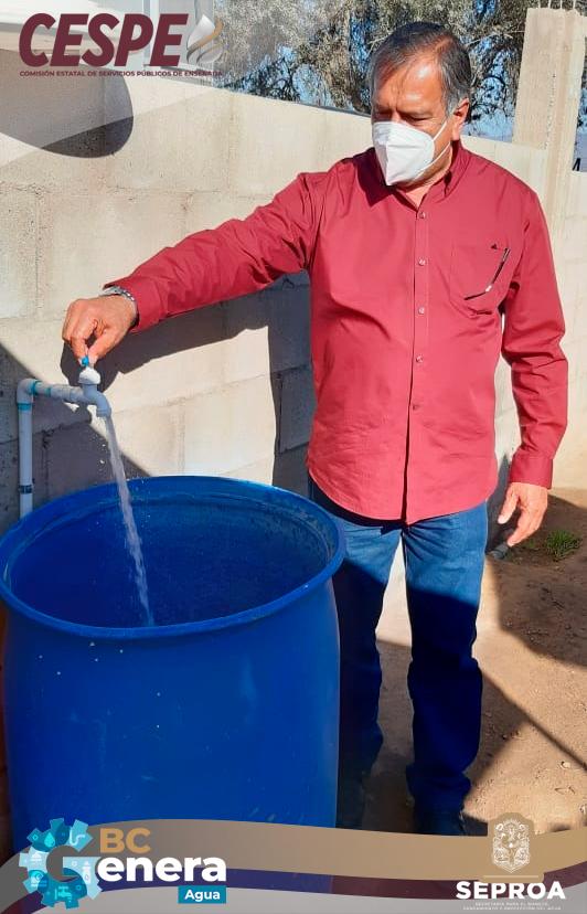 Inaugura Director General de la CESPE Marcelino Márquez Wong 5 nuevas obras de agua beneficiando a mil familias.