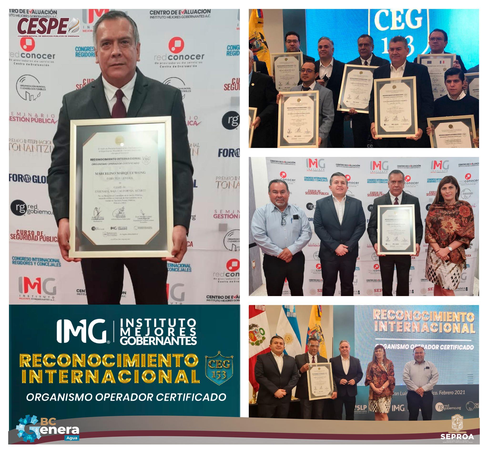 Reconocen internacionalmente a Marcelino Márquez Wong, Director General de la #CESPE, por haber dado vuelta a la página del suministro de agua y saneamiento en Ensenada.