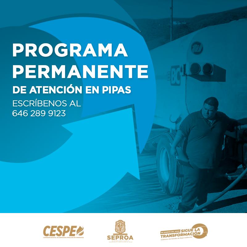 Programa Permanente de Atención en Pipas